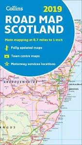 2019 Collins Map Of Scotland Collins Maps 9780008272739