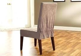 dining chair slipcovers short chair slipcover short dining sure fit stretch pique shorty dining room chair