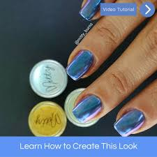 How to apply chrome powder – Mitty. Nail Art Tools & Brushes
