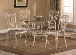 hilale napier 5 piece round dining table set aged ivory