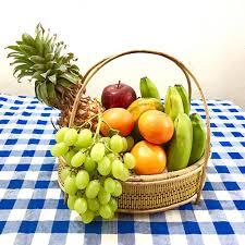 fruit basket.  Fruit Inside Fruit Basket E