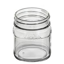 ball 4 oz mason jars. view smooth side. ball 4 oz mason jars n