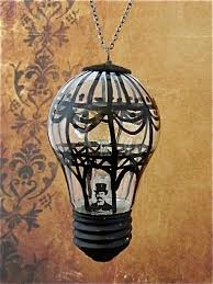 <b>Steampunk</b> Christmas ornament - Hot air balloon - <b>Hand painted</b> ...