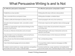 grade writing assessment ppt video online  what persuasive writing is and is not