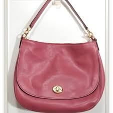 Coach Saddle Turnlock Hobo Crossbody Handbag 24771
