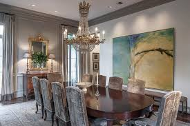 art for the dining room. Contemporary Art In An Elegant Dining Room For The G