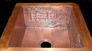 hammered copper kitchen sink ariellina farmhouse
