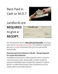 New Rent Receipts Ordinance In The City Of New Brunswick