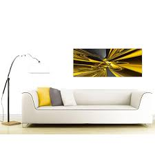 yellow and black canvas wall art