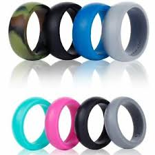 Qalo Men S Ring Size Chart Details About 4 Pack Womens Silicone Wedding Rings Stackable Crossfit Gym Fitness Active Qalo
