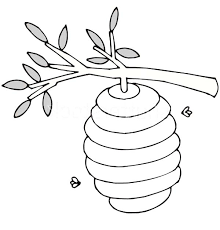 Small Picture Beehive Up at Tree Branch Coloring Page NetArt