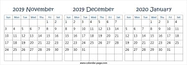 2020 Calendar Editable Editable November December 2019 January 2020 Calendar Wallpaper