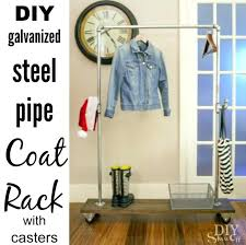 Plumbing Pipe Coat Rack Plumbing Pipe Clothes Rack Freestanding Mobile Pipe Coat Rack Diy 44