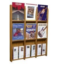magazine rack office. Wood Twelve Pocket Magazine And Brochure Rack, 33101 Rack Office A