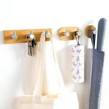 steel wall hangers for clothes er seamless hook natural bamboo stainless steel wall hook clothes bag