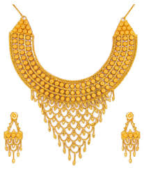 anjali jewellers gold wedding collection. anjali jewellers golden necklace set gold wedding collection snapdeal