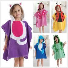kids hooded beach towels. Unisex Kid\u0027s Hooded Cute Bathrobe Beach Pool Swimming Bath Towels Poncho Style | EBay Kids
