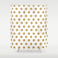 gold glitter polka dots shower curtain by cuteco society6 throughout dot plans 3