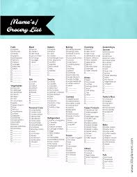 Grocer List Healthy Grocery List