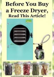 Freeze Dried Food Conversion Chart Home Freeze Drying Read This Before You Buy A Freeze Dryer