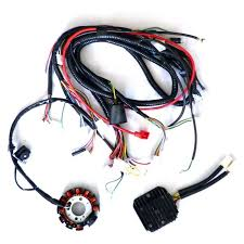 performance 11 pole dc magneto stator regulator wiring harness gy6 150 scooter