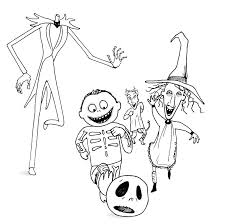 Nightmare Before Coloring Pictures Jack Skellington Page Pages