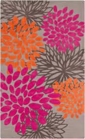 surya abigail abi 9070 gray hot pink area rug