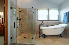 Clawfoot Tub Bathroom Ideas Delectable Corner Shower With Claw Foot Tub The Larger Glass Shower