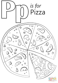 Small Picture Letter P is for Pizza coloring page Free Printable Coloring Pages