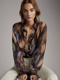 <b>Women's Printed</b> Shirts   Massimo Dutti Spring <b>Summer 2019</b>