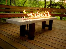 concrete outdoor dining table. Captivating Furniture For Outdoor Living Space Design And Decoration Using Rectangular White Concrete Dining Table With Fire Pit Including Solid