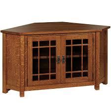 Corner Tv Cabinet With Hutch Amish Mission Style Corner Tv Media Stand Landmark Corner Tv