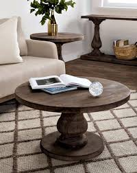 rustic round coffee table rustic coffee tables pedestal coffee table