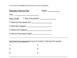 writing a biography by karenarthurs teaching resources tes