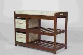 modern wood furniture. Walnut Klasik Mebel Kayu Modern Tempat Penyimpanan Bench Dengan 2 Laci Kain Wood Furniture L