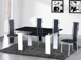 5 black glass high gloss dining table and 4 6 chairs