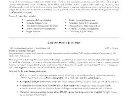 General Contractor Cover Letter Examples Construction Federal