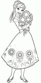 Anna Coloring Page Frozen Coloring Pages Disney Coloring Book