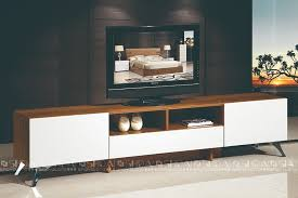 Tv Cabinet  E815 Jpg White And Wood Stand D31