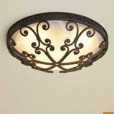 6551 3 spanish style flush mount ceiling fixture