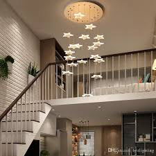 Pendant lighting for restaurants Glass Ball Modern Led Pendant Lights Restaurant Clothing Store Decoration Led Pendant Lamps Modern Villa Hotel Lobby Rotate Staircase Pendant Lighting Pendants Hanging Dhgatecom Modern Led Pendant Lights Restaurant Clothing Store Decoration Led