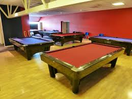 Setting Up A Pool Table Sam K Steel American Pool Tables 4 More Tables Set Up In