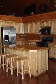 custom rustic cedar kitchen cabinets by carl hartman