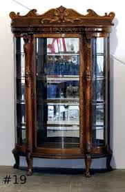 antique curio cabinet antique glass cabinet antique curio china cabinet antique curio cabinet with curved glass