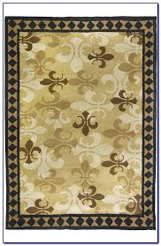 fleur de lis rug round collection in area with kitchen rugs styh bed bath and beyond