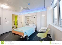 Modern Hospital Interior Design View Over A Modern Hospital Room Stock Image Image Of