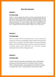 Resume Bio Example Resume Bio Example Examples Of Resumes 44