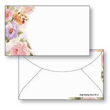 Gift Card Envelope Style F Full Color Floral Design