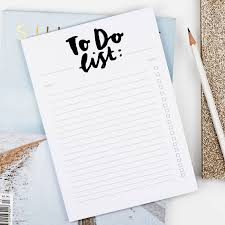 To Do Lsit Monochrome Hand Lettered To Do List Notepad By Annie Dornan Smith