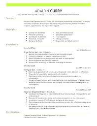 Security Guard Resume Security Resume Examples Security Director